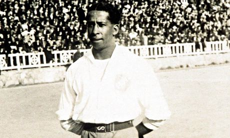 World champions: Andrade before the World Cup football final in 1930. Photograph: Getty