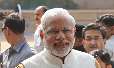 India's Prime Pinister designate Narendra Modi addresses the media