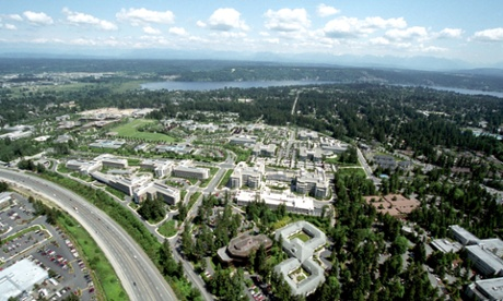 The Microsoft compound in Seattle, Washington.
