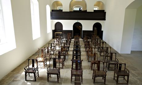 ai weiwei fairytale 1001 chairs yorkshire sculpture park chapel