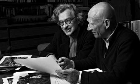 Wim Wenders with Sebastião Salgado