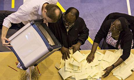 Vote count croydon