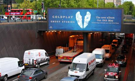 Coldplay billboard tweet