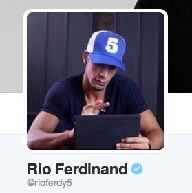 Rio Ferdinand twitter avatar