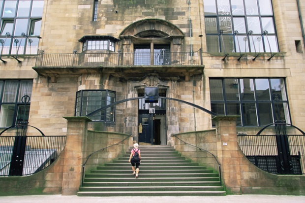 Glasgow School of Art, designed by the architect Charles Rennie Mackintosh, Glasgow, Scotland,