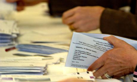 Thousands of postal votes being counted in Bradford