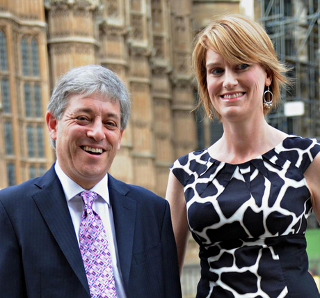 John Bercow and his wife, Sally