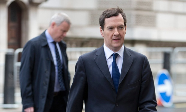 George Osborne leaves after delivering a speech at the ConservativeHome conference in central London.