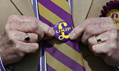 A man wearing a Ukip badge