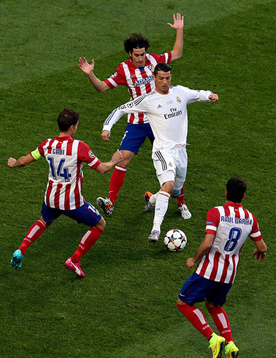 Champions League.: Real Madrid vs Atletico Madrid