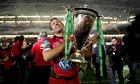 Jonny Wilkinson with the trophy