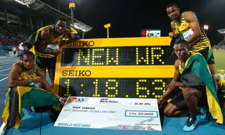 Jamaica's 4x200m relay team
