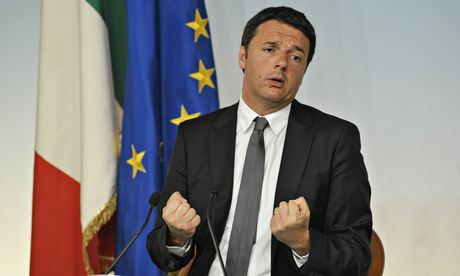 Italian Prime Minister Matteo Renzi during a press conference, Rome, Italy - 26 May 2014