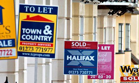Estate agents' boards in Brighton