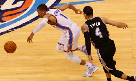 Oklahoma City Thunder point guard Russell Westbrook stole the ball, Game 4 of the Western Conference Finals and NBA fans' hearts on Tuesday night against the San Antonio Spurs.