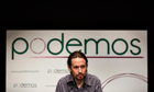 "Pablo Iglesias, head of leftist group ""Podemos"","