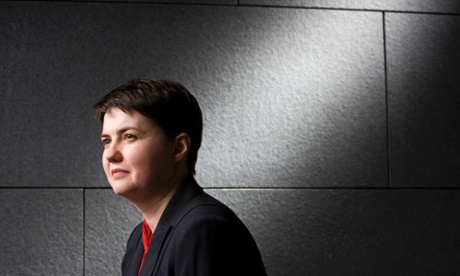 Ruth Davidson MSP, leader of the Scottish Conservative & Unionist party, at the Scottish Parliament, Holyrood.