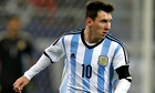 Lionel Messi in action for Argentina