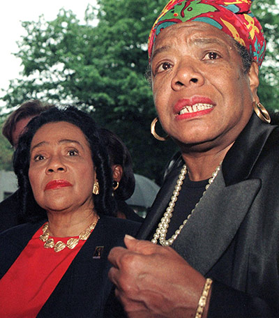 Maya Angelou in pictures: Coretta Scott King and Maya Angelou