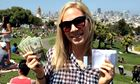 A woman in San Francisco who found an envelope of @HiddenCash's money.