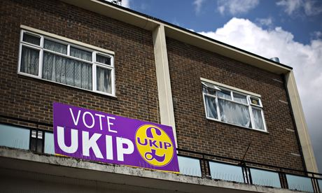 Ukip poster on building