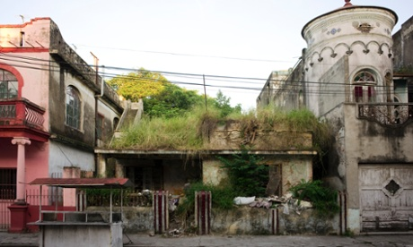 derelict restaurant in Tampico, Mexico