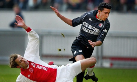It was during a Feyenoord v Ajax game that Robin van Persie was chased and beaten up be fans.