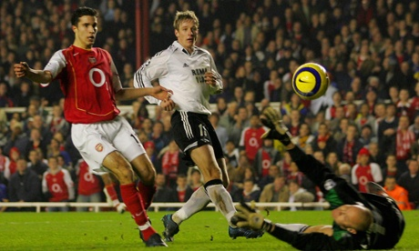 Robin van Persie spent eight years at Arsenal before moving to Manchester United in 2012.