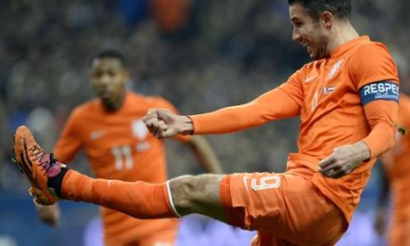 Robin van Persie will be Louis van Gaal's captain at the 2014 Brazil World Cup.