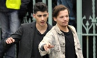 Caught on camera: Zayn Malik and Louis Tomlinson of One Direction.