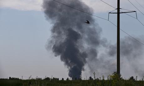 Порошенко клянется наказать мятежников, которые сбили украинский вертолет