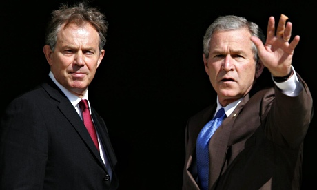British prime minister, Tony Blair, with US president, George Bush, in 2005. Photograph: Kirsty Wigglesworth/PA