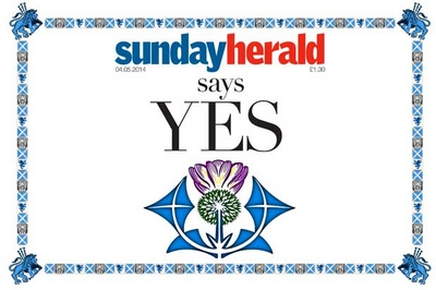Sunday Herald yes vote