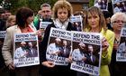 Pro-Gerry Adams protest in Belfast