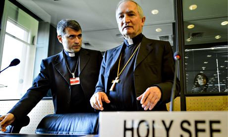 Archbishop Silvano Tomasi (right) at the UN committee against torture