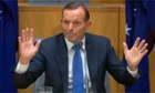 Tony Abbott speaks in Canberra