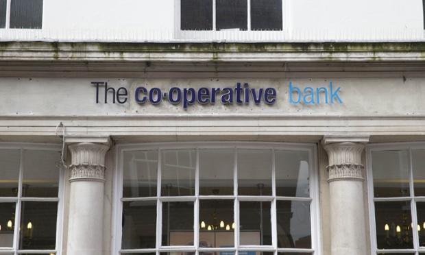 Regional branch of The Co-operative Bank, Newbury, Berkshire, Britain.