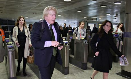 Boris Johnson during tube strike