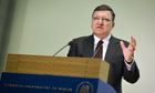 EU-Commission President Barroso speaks in Berlin on Future of Europe