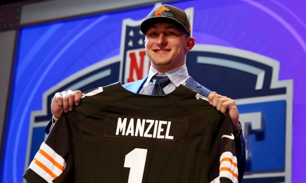 Johnny Manziel finally goes to the Cleveland Browns with the 22nd pick of the 2014 NFL Draft.