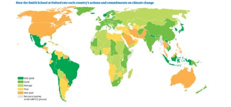 Oxford University's Smith School climate change map