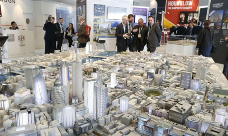 A scale model of the centre of London on show at an international property fair in France.