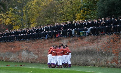 The Eton wall game. Many rich Russians love the traditions of English public schools.