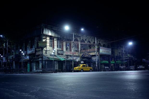 Kolkata, 12 February, 1.55am. 'The Ambassador idles. Chowringhee Road.'!