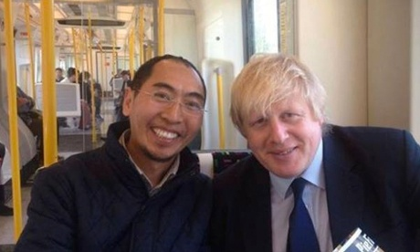 buddhist selfie boris johnson