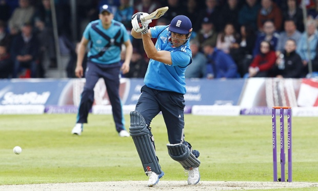 England's Alastair Cook in action.