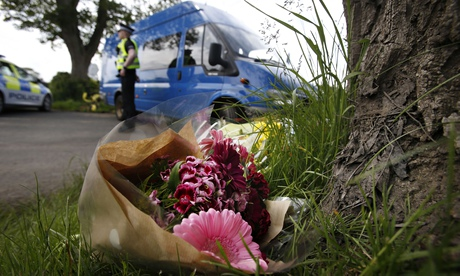 Floral tributes left near scene of crash during Jim Clark rally