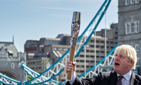 London Mayor Boris Johnson welcomes Queen's Baton Relay