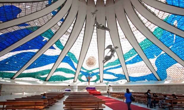 Metropolitana Nossa Senhora Aparecida cathedral in Brasilia by Oscar Niemeyer