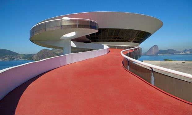 Niteroi Contemporary Art Museum, Rio de Janeiro, Brazil